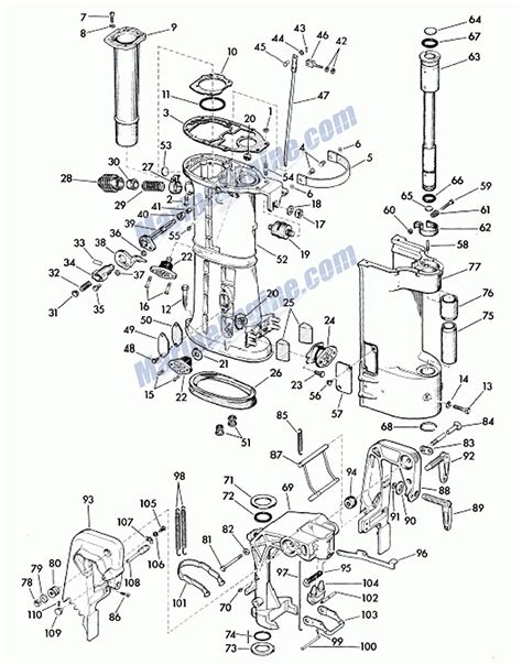 20 Hp Johnson Outboard Diagram by Outboard Motor Lower Unit Diagram Impremedia Net