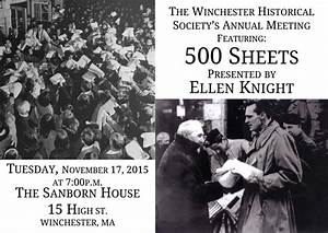 WHS Annual Meeting Presentation: 500 Sheets - Winchester ...