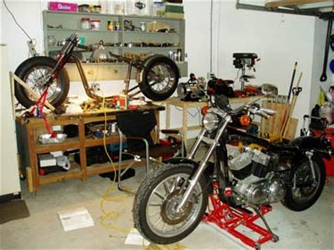 garage workshop  sportster   engine conversion