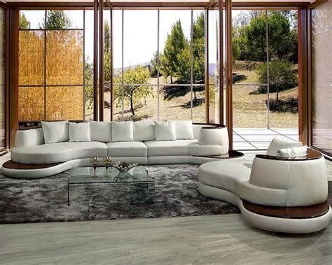 Rounded Corner Sofa by Modern Rounded Corner Leather Sectional Sofa Set 44l105