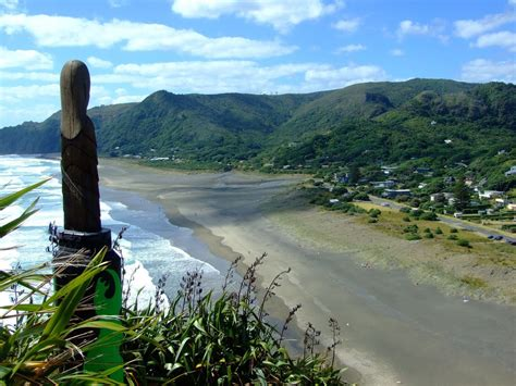 Lion Rock Piha New Zealand Piha Beach View From The