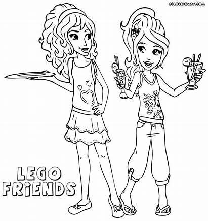 Coloring Lego Friends Olivia Printable Emma Colorare