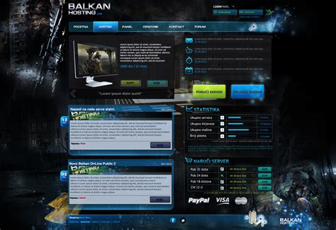 gaming website template hosting web template poster