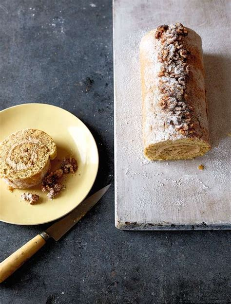 coffee  walnut swiss roll recipe britains  home cook