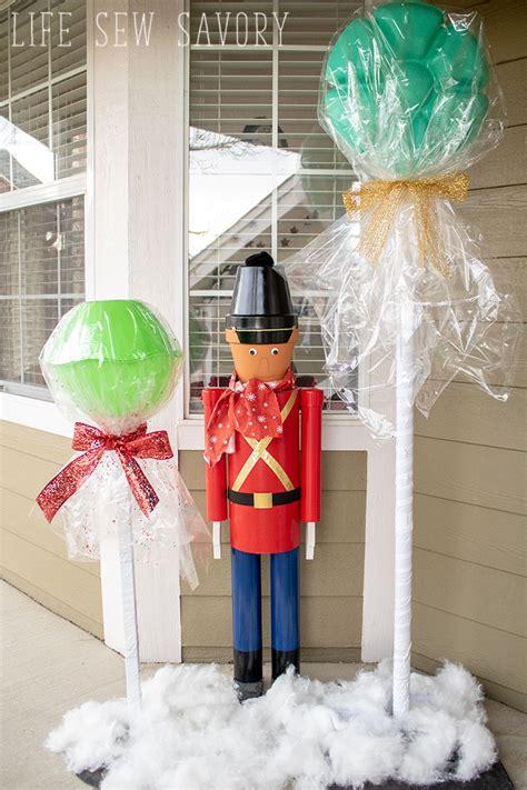 diy giant lollipops dollar tree christmas craft life