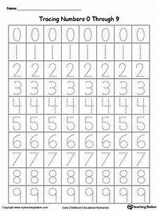 tracing numbers 0 through 9 number tracing number and With learn how to write numbers and letters