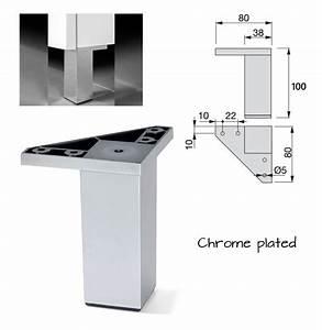 Meuble Pied De Lit : pied de meuble plastique jambe canap lit table argent 12 ~ Teatrodelosmanantiales.com Idées de Décoration
