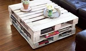 Table Basse Palettes : des id es r cup pour fabriquer une table basse soi m me ~ Melissatoandfro.com Idées de Décoration