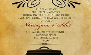 downloadable zulu south african traditional wedding With wedding invitations wording south africa