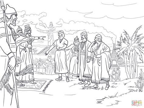 Shadrach Meshach And Abednego Coloring Page - Democraciaejustica
