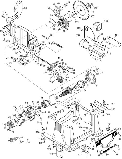 Table Saw Motor Wire Diagram by Dewalt Dw744 Portable Table Saw Parts Type 3 Parts