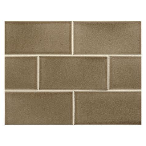 """Vermeere Ceramic Tile  Slate Brown Crackle  3"""" X 6"""
