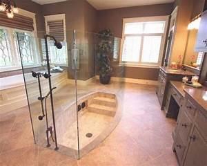 Baignoire Douche Italienne : douche l 39 italienne avec escalier et baignoire douche l 39 italienne tub shower combo home ~ Melissatoandfro.com Idées de Décoration