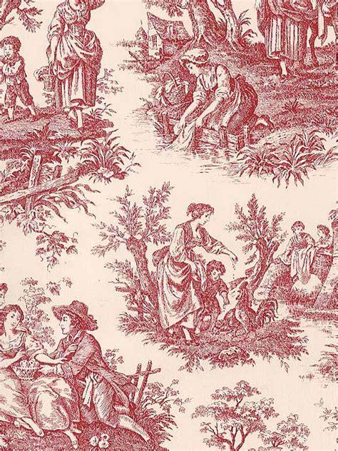 Waverly Toile Wallpaper Wallpapersafari