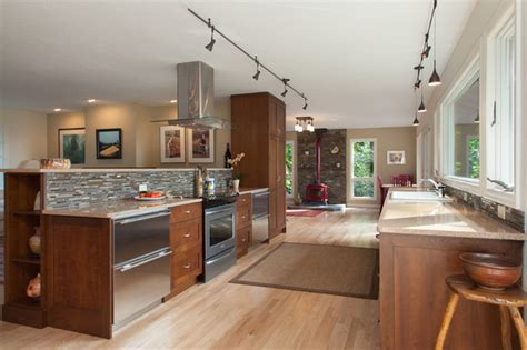 Wine Country Kitchenfamily Room  Contemporary Kitchen