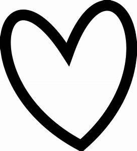 Slant Black Heart Outline Clip Art at Clker.com - vector ...
