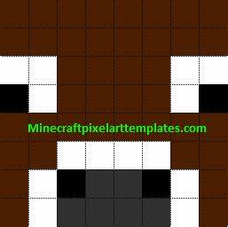minecraft pixel art templates cow With minecraft cow template