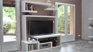 Meuble Tv Living : meuble living tv moderne id es de d coration int rieure ~ Teatrodelosmanantiales.com Idées de Décoration