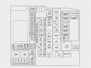 Hyundai Grand Santa Fe  2013 - 2016   U2013 Fuse Box Diagram