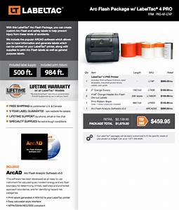 labeltac 4 pro arc flash labels package thermal With arc flash label printing service