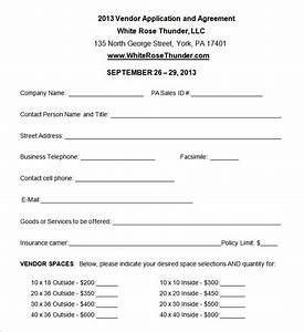 vendor application template 12 free word pdf documents With event vendor application template
