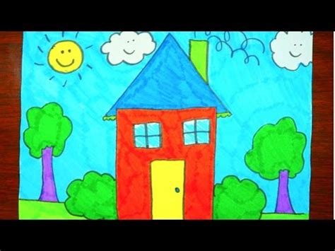 draw  house kids coloring video youtube