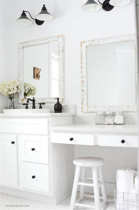 Farmhouse Bathroom   DIY Framed Mirrors   Simply Kierste