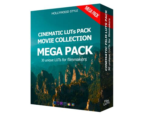 CINEMATIC FILM LUTs PACK 2020 - MOVIE COLLECTION MEGA PACK ...