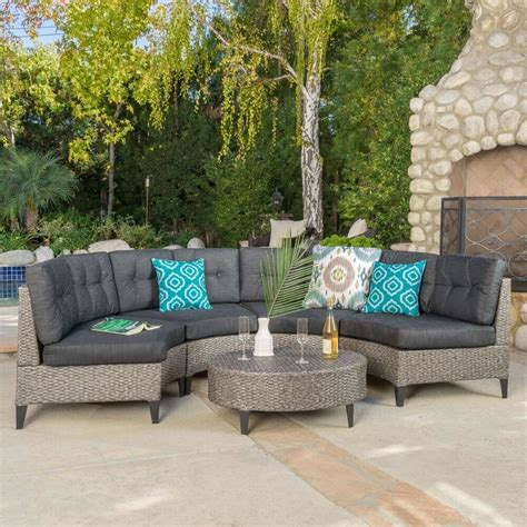 wicker settee set currituck outdoor 5 mixed black wicker sofa set with