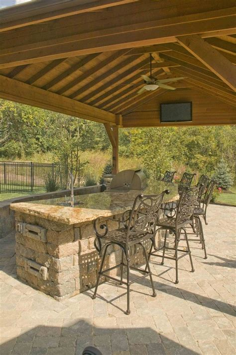 Backyard Built by Outdoor Slate Built In Bar Covered Outdoor Bar With