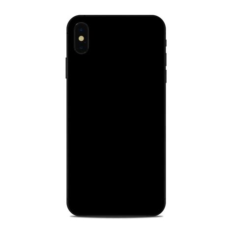 apple iphone xs max skin solid state black  solid