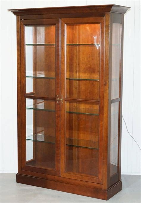 Display Cabinets For Sale - stunning grange solid cherry wood glass display cabinet