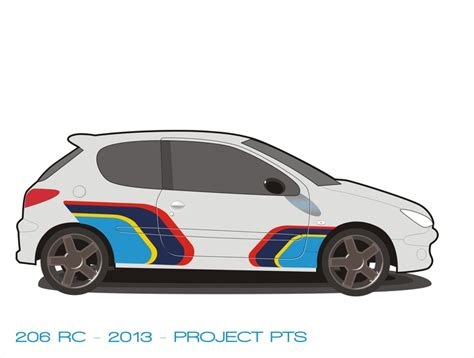 Peugeot 206 RC with PTS colors. | Cars | Pinterest