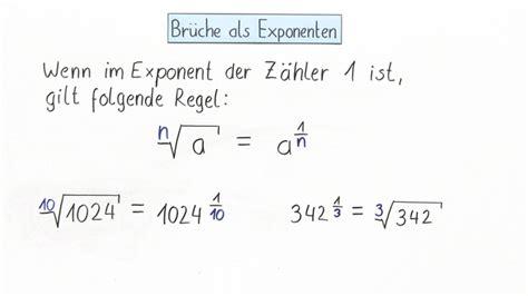 brueche als exponenten  mathematik  lernen