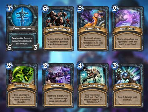 Warlock Murloc Deck Lich King by Arfus Hearthstone Card