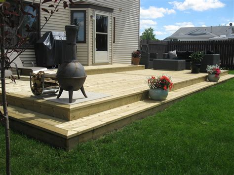 backyard wood deck brothers installations