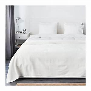 Couvre Lit Blanc : indira couvre lit 230x250 cm ikea ~ Teatrodelosmanantiales.com Idées de Décoration