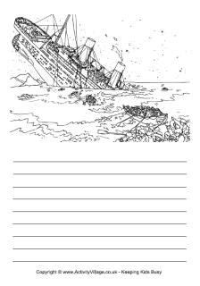 titanic notebooking pages