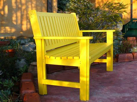 yellow outdoor bench 10 yellow garden ideas walls furniture or plants