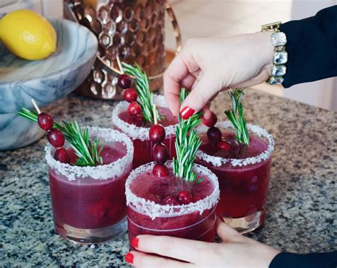 super easy holiday cocktail recipe sparkling cranberry