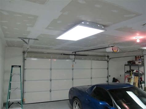 Ceiling Material For Garage by Garage Makeover Bringing The Popcorn Ceiling Brian