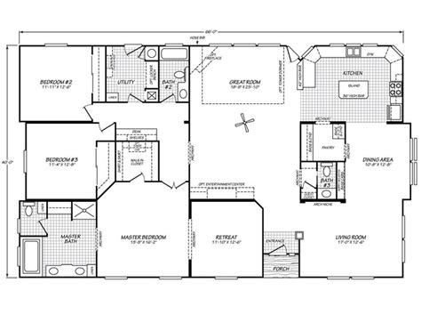 Fleetwood Manufactured Home Floor Plans Model403b on