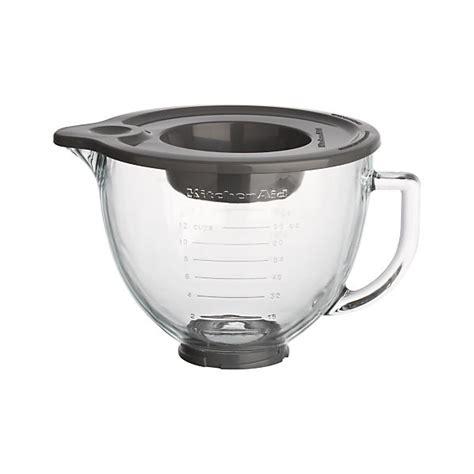 Kitchenaid Mixer Glass Bowl kitchenaid 174 stand mixer glass mixer bowl crate and barrel