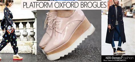 Brogue Platform Oxfords platform oxford brogues style lookbook 2015