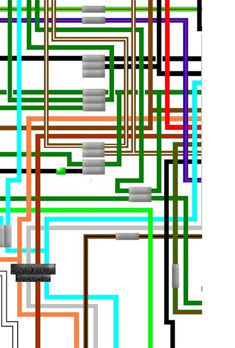 Cb 7 50 Wiring Diagram by Honda Cb750f1 Cb750f2 Cb750 Uk Spec Colour Wiring Loom Diagram