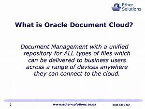 Ether solutions implements oracle document cloud for Oracle document management cloud