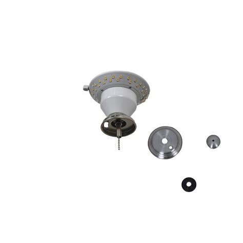 led replacement bulbs for ceiling fans air cool carrolton ii 52 in led brushed nickel ceiling