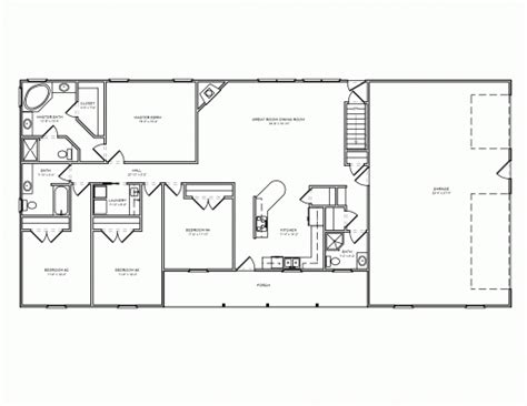 simple 4 bedroom house plans inspiring free 3 bedroom ranch house plans with carport