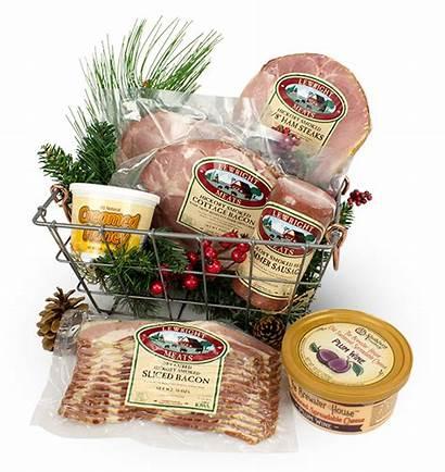 Box Gift Christmas Meats Give