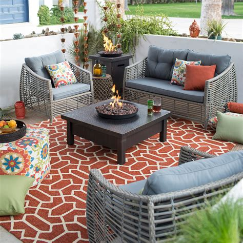 belham living kambree  weather wicker fire pit